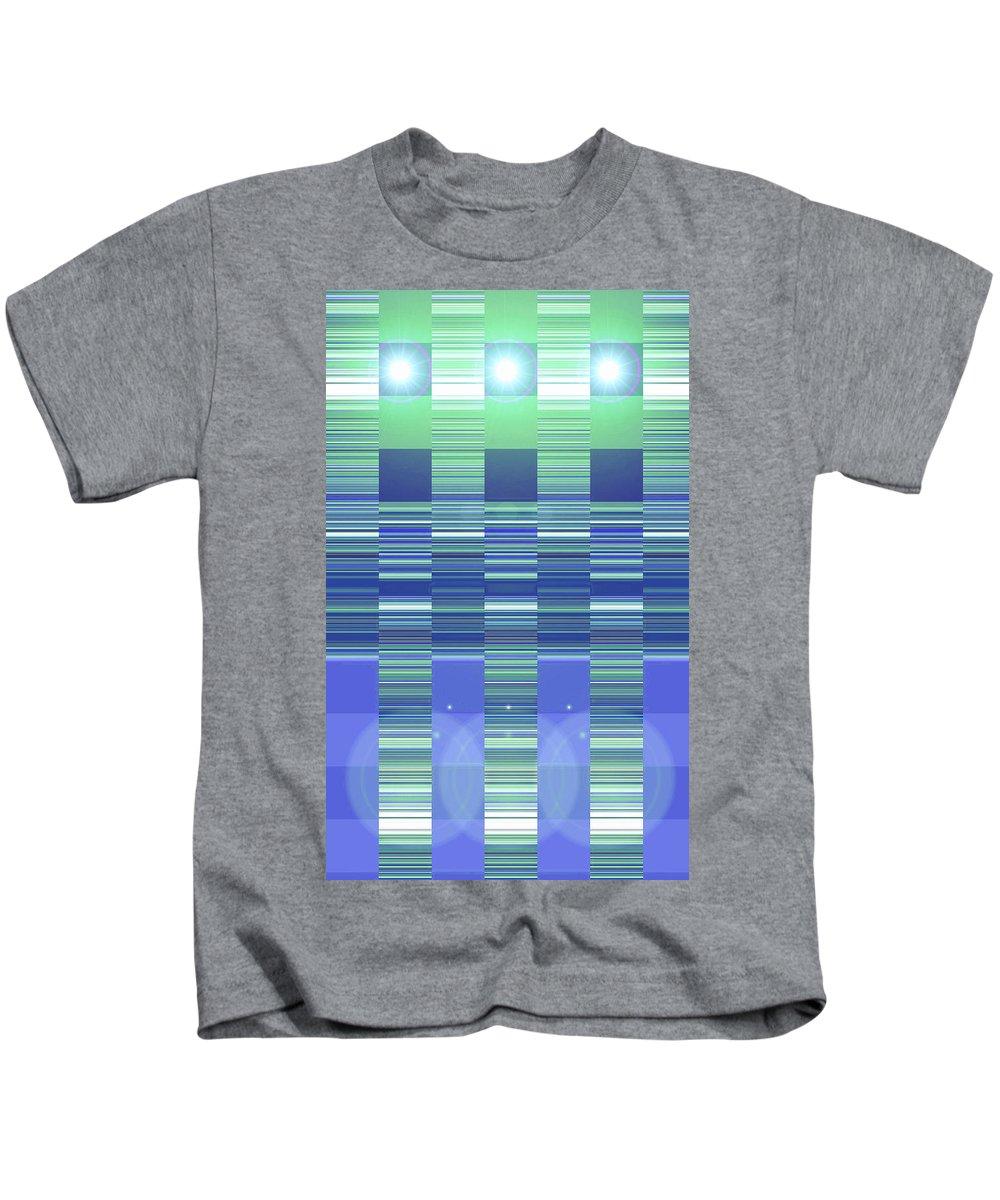 Moveonart! Digital Gallery Kids T-Shirt featuring the digital art Moveonart Color Duo Program Two by Jacob Kanduch