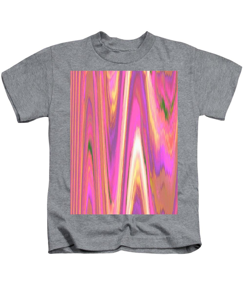 Moveonart! Digital Gallery Kids T-Shirt featuring the digital art Moveonart Color Mood Waves One by Jacob Kanduch