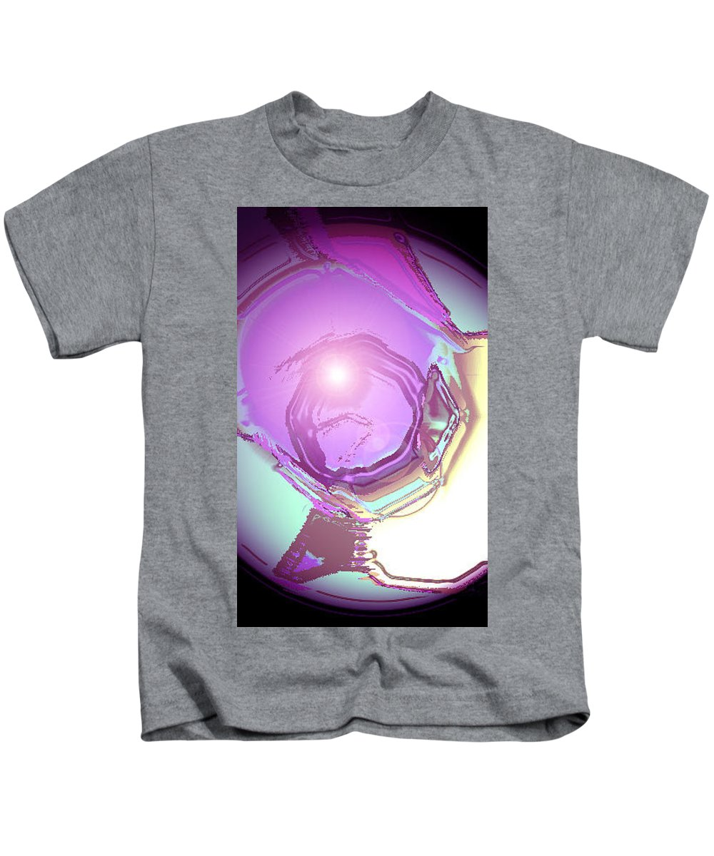 Moveonart! Digital Gallery Kids T-Shirt featuring the digital art Moveonart Inspiration Intuition Intellect. by Jacob Kanduch