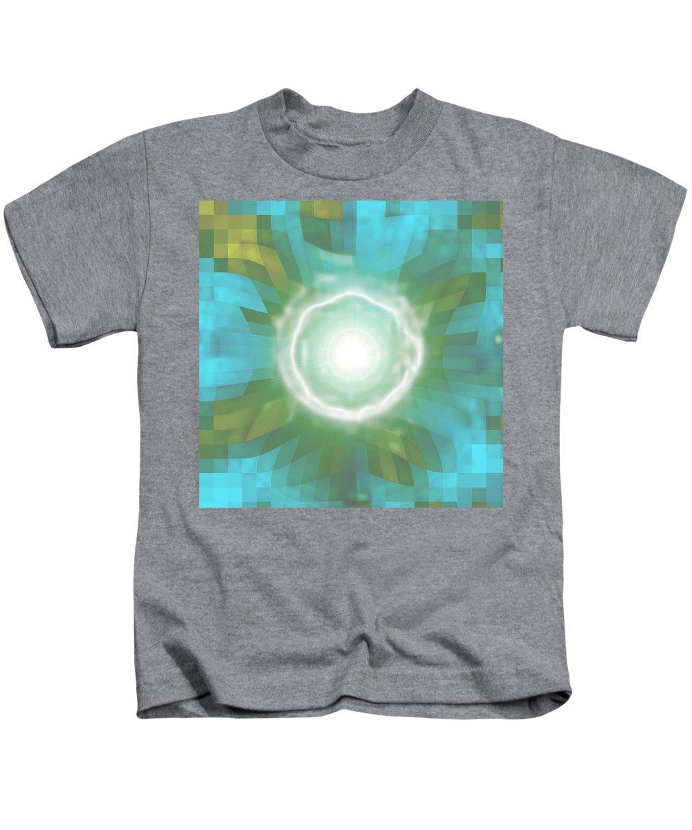 Moveonart! Digital Gallery Kids T-Shirt featuring the digital art Moveonart Seneca Cayuga Indian Blessing by Jacob Kanduch