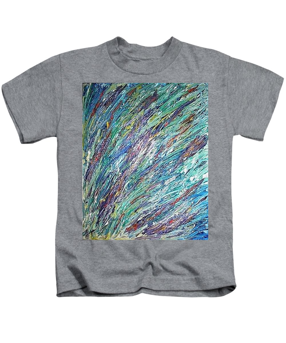Moveonart! Digital Gallery Kids T-Shirt featuring the painting Moveonart Spring In San Francisco by Jacob Kanduch