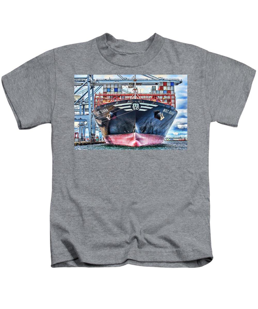 Msc Kids T-Shirt featuring the photograph Msc Diana by Brian Bjeldbak