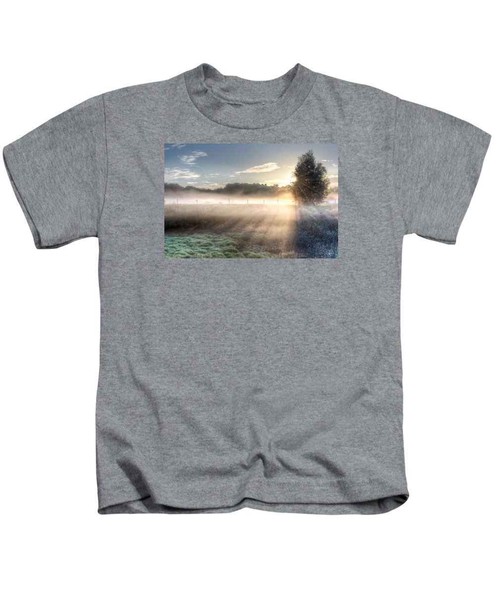 Fog Kids T-Shirt featuring the photograph Mystical Fogs Of Florida by Ronald Kotinsky