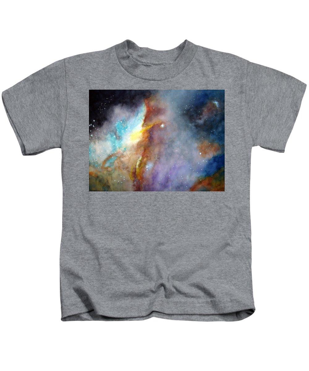 N11b Large Magellanic Cloud Kids T-Shirt featuring the painting N11b Large Magellanic Cloud by Allison Ashton