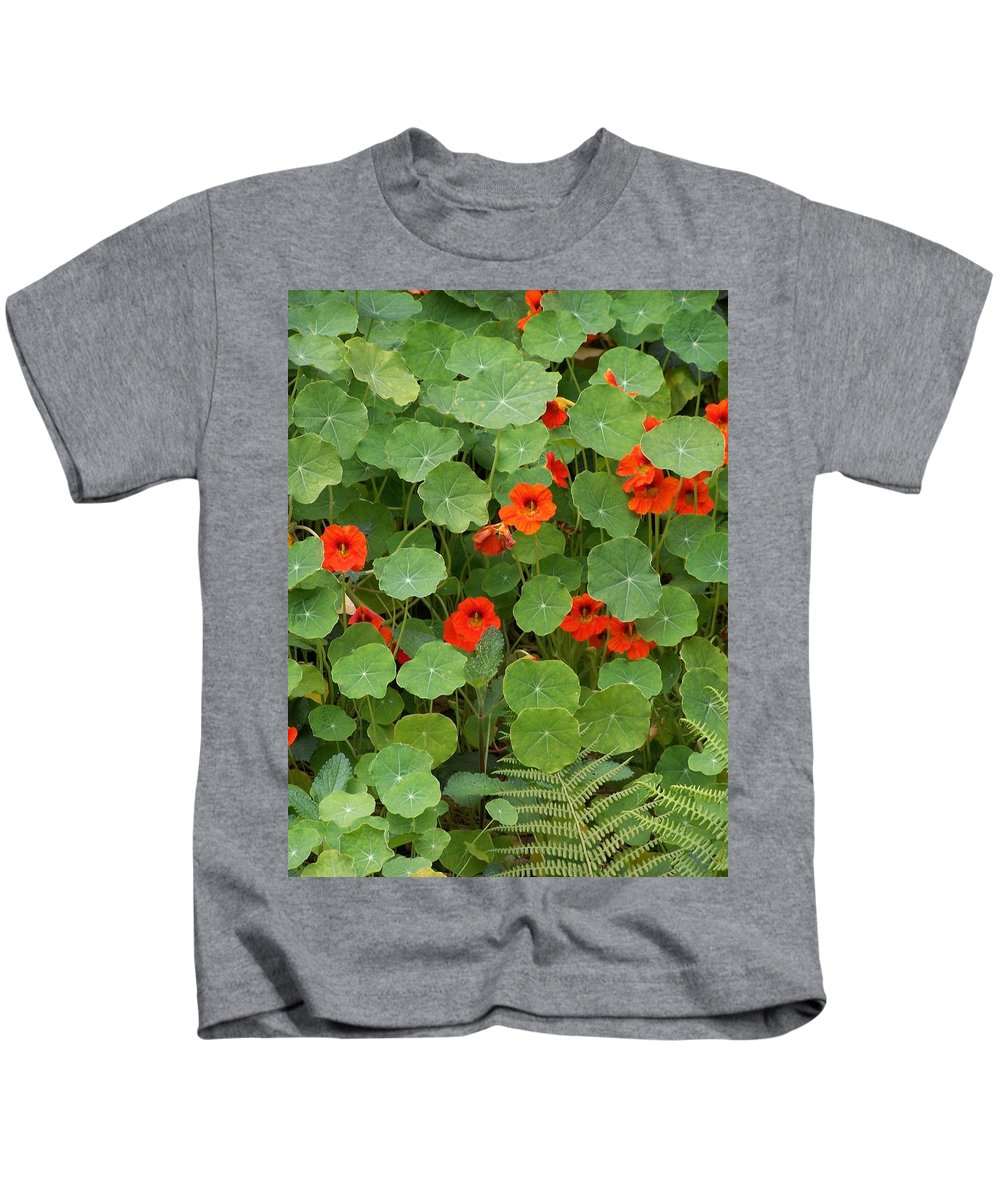 Nasturtiums Kids T-Shirt featuring the photograph Nasturtiums by Gale Cochran-Smith