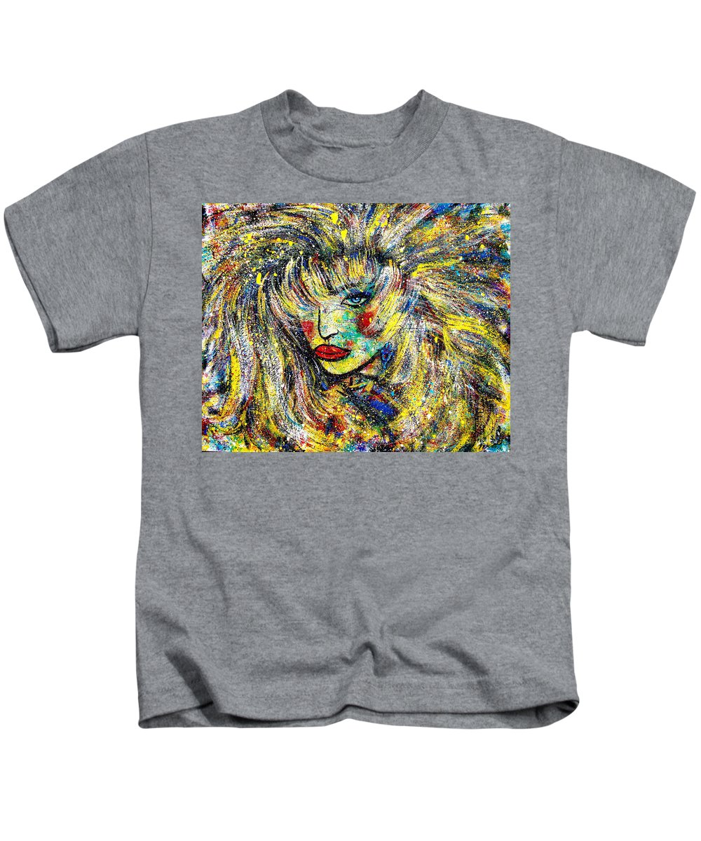 Portrait Kids T-Shirt featuring the painting Natalya by Natalie Holland