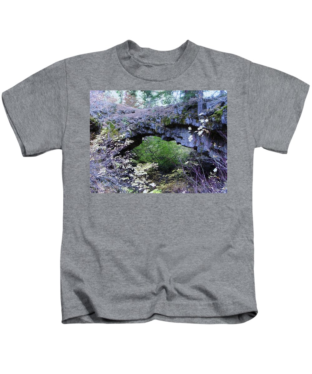 Natural Bridge Kids T-Shirt featuring the photograph Natural Bridge Two  by Jeff Swan