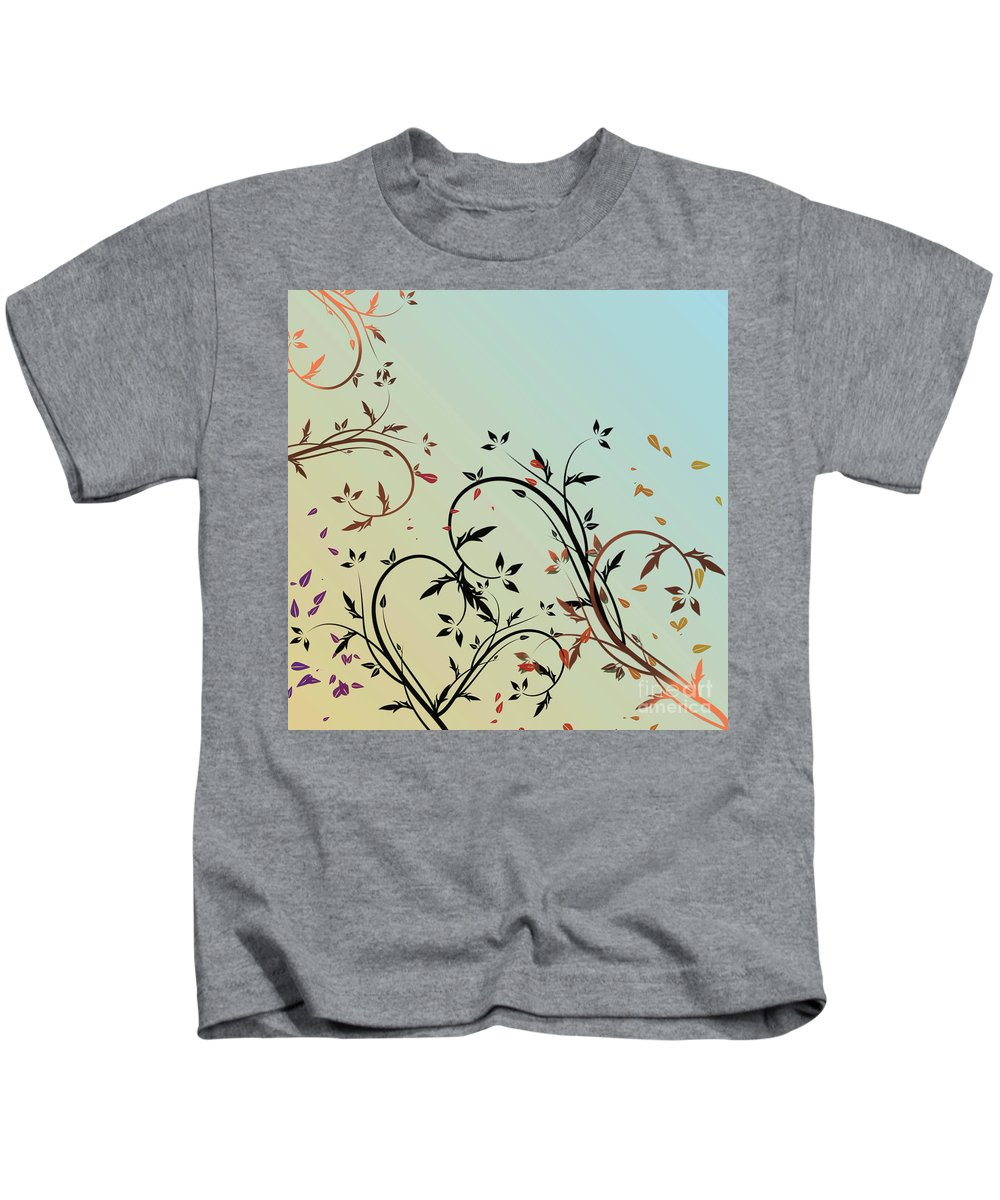 Nature Kids T-Shirt featuring the digital art Nature Branches by Ivan Angelovski