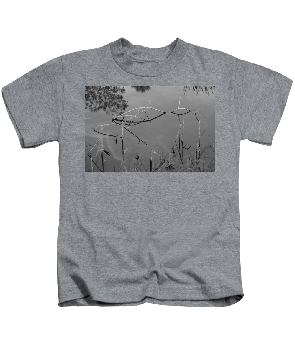 Black And White Kids T-Shirt featuring the photograph Natures Bridge by Rob Hans
