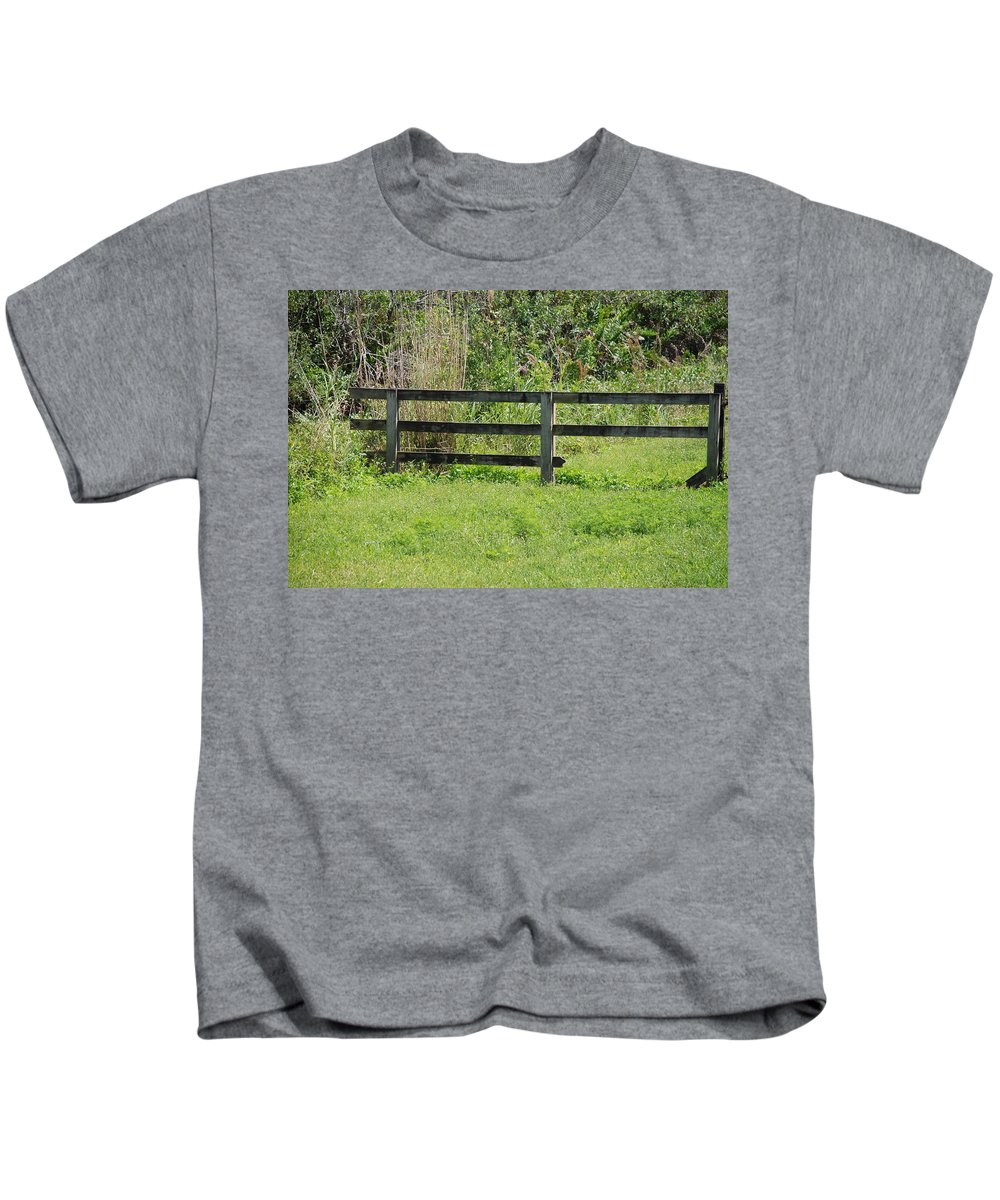 Fence Kids T-Shirt featuring the photograph Natures Fence by Rob Hans