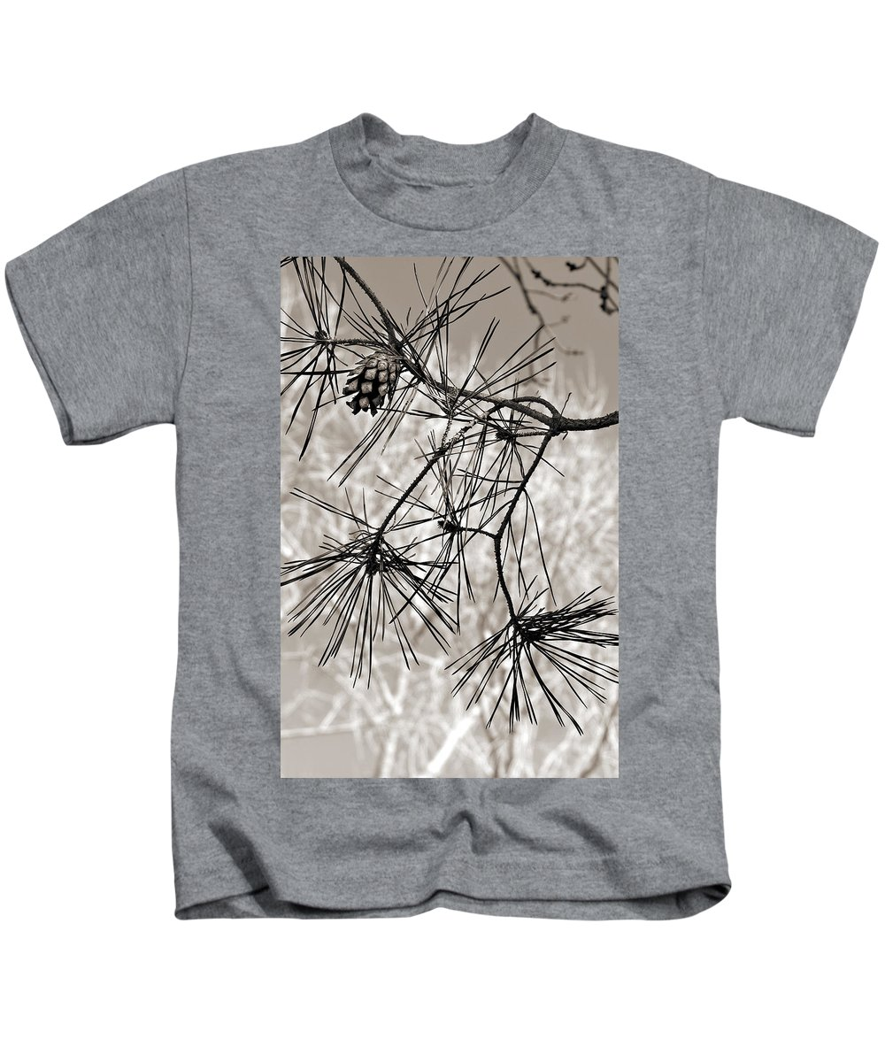 Tree Kids T-Shirt featuring the photograph Needles Everywhere by Marilyn Hunt