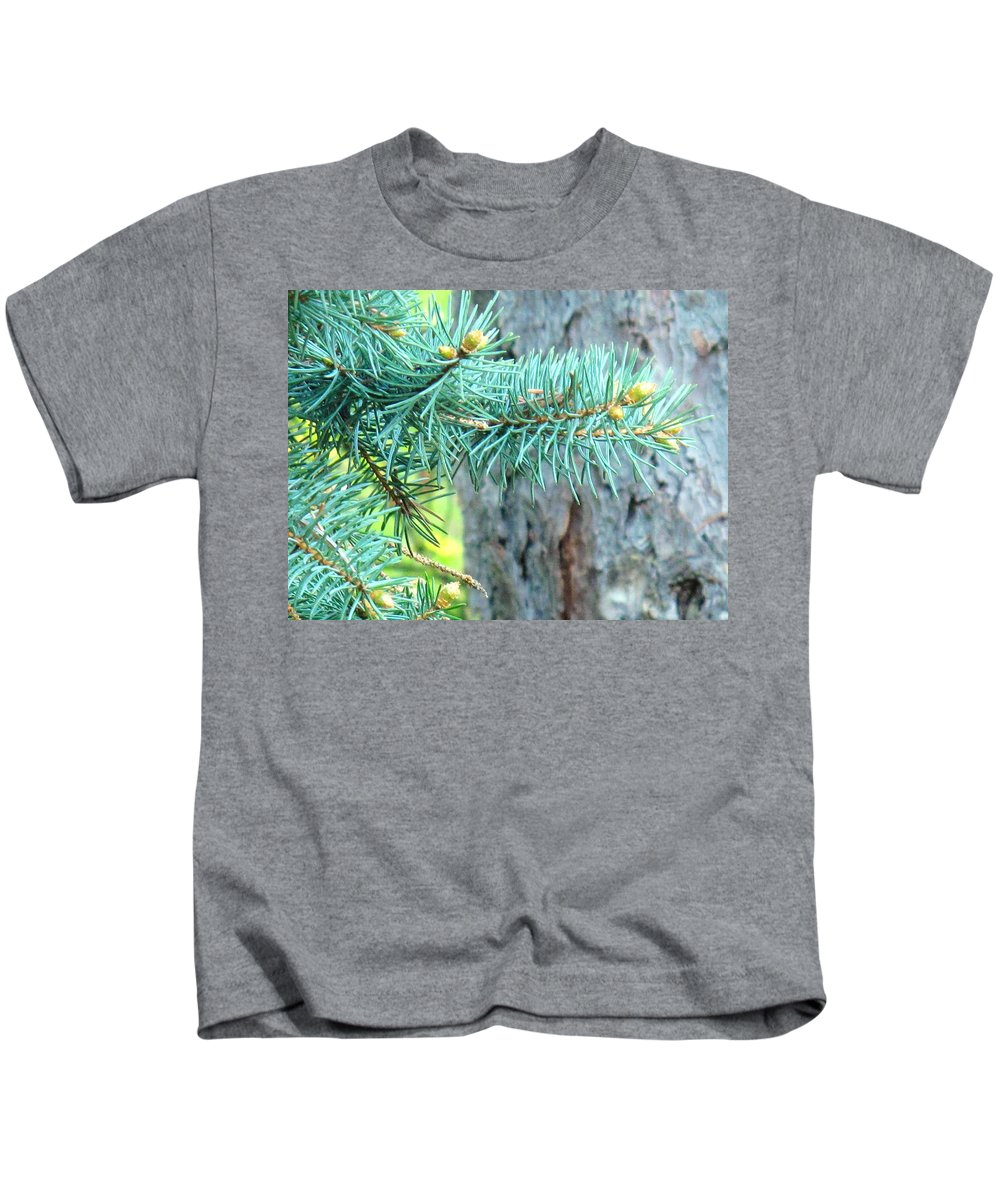 Pine Kids T-Shirt featuring the photograph Needles by Ian MacDonald