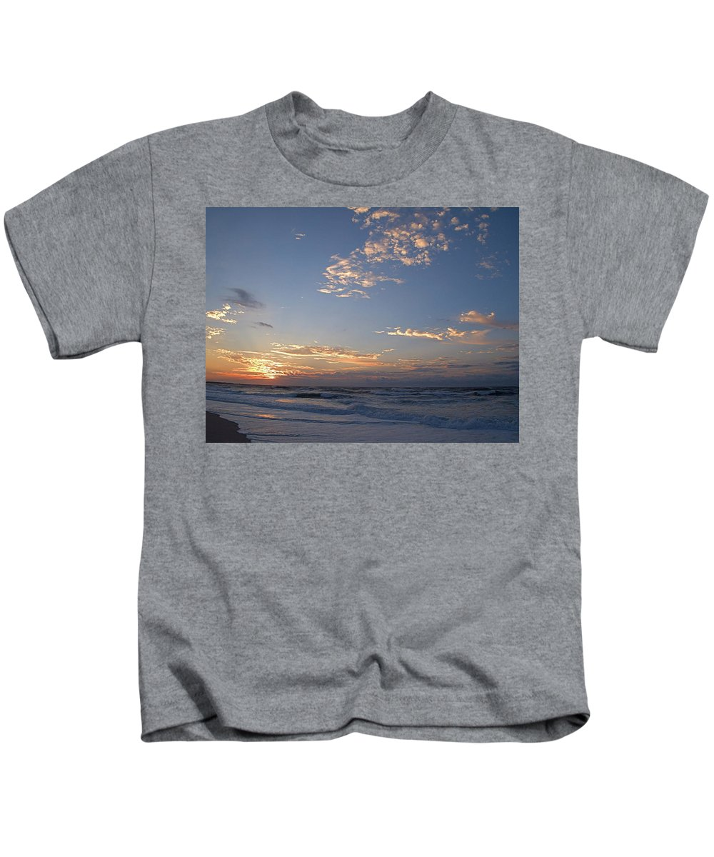 Seas Kids T-Shirt featuring the photograph New Dawn by Newwwman