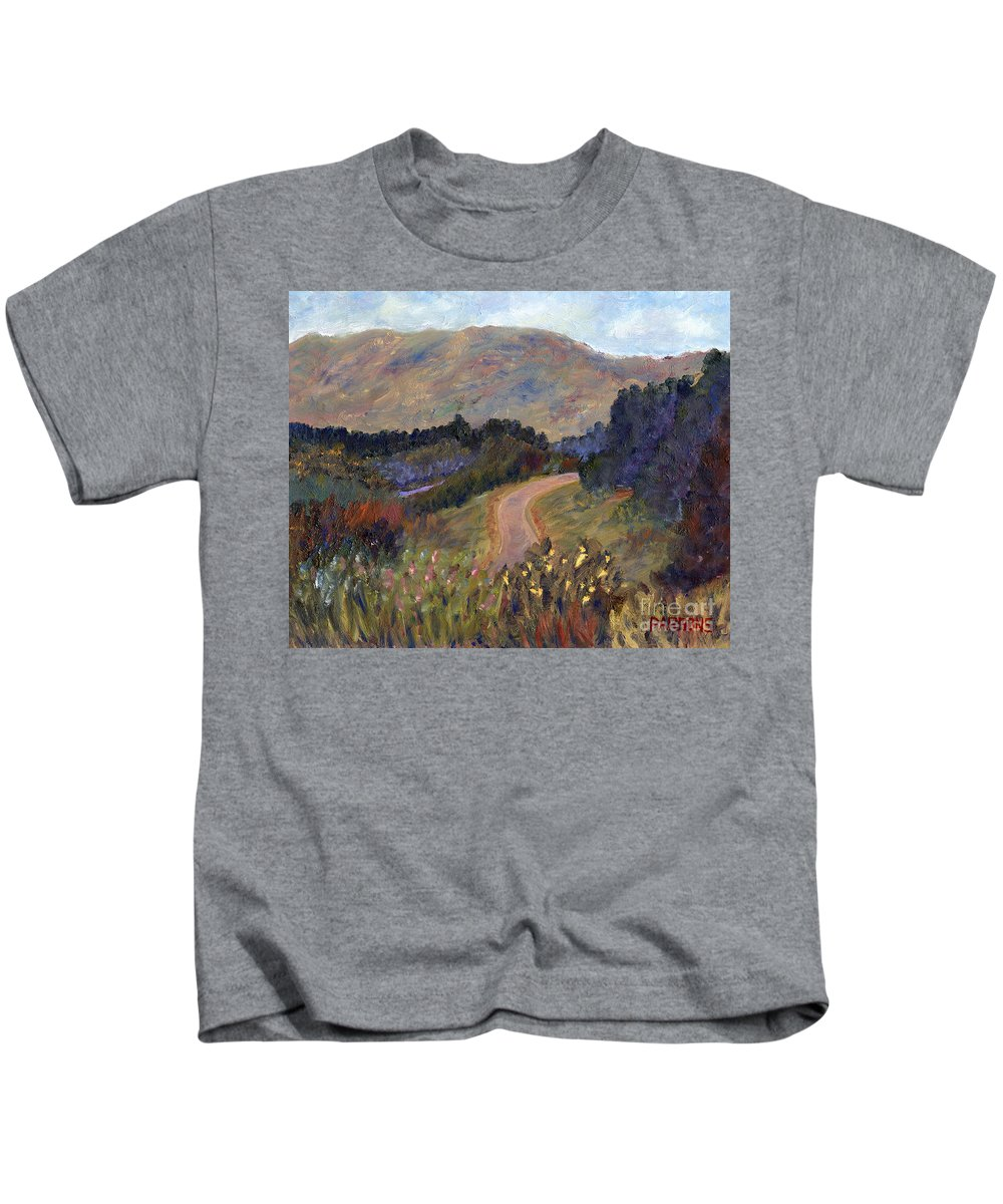 New Hampshire Kids T-Shirt featuring the painting New Hampshire Road by Pamela Parsons