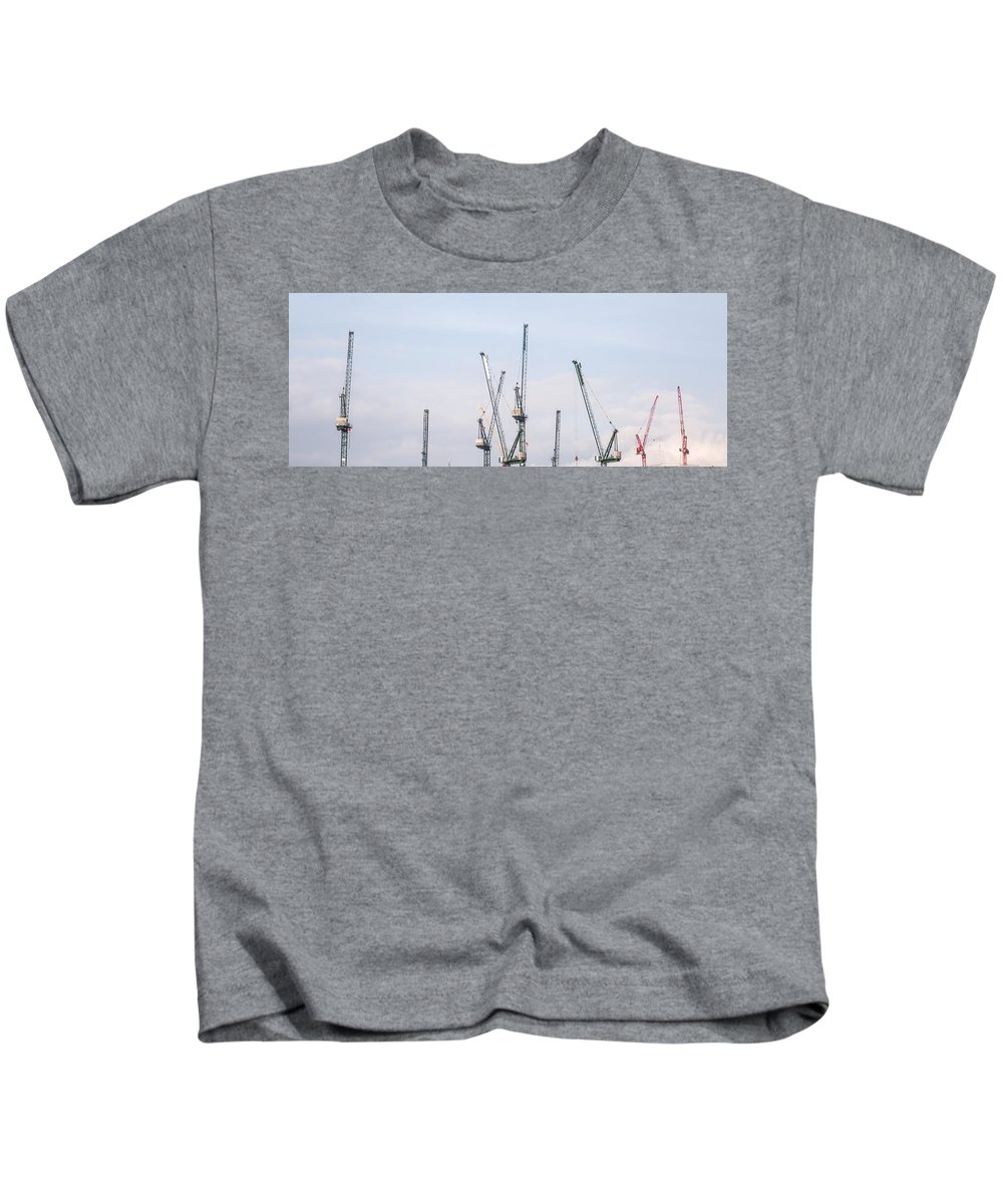 Kids T-Shirt featuring the photograph New Skyline by Jared Windler