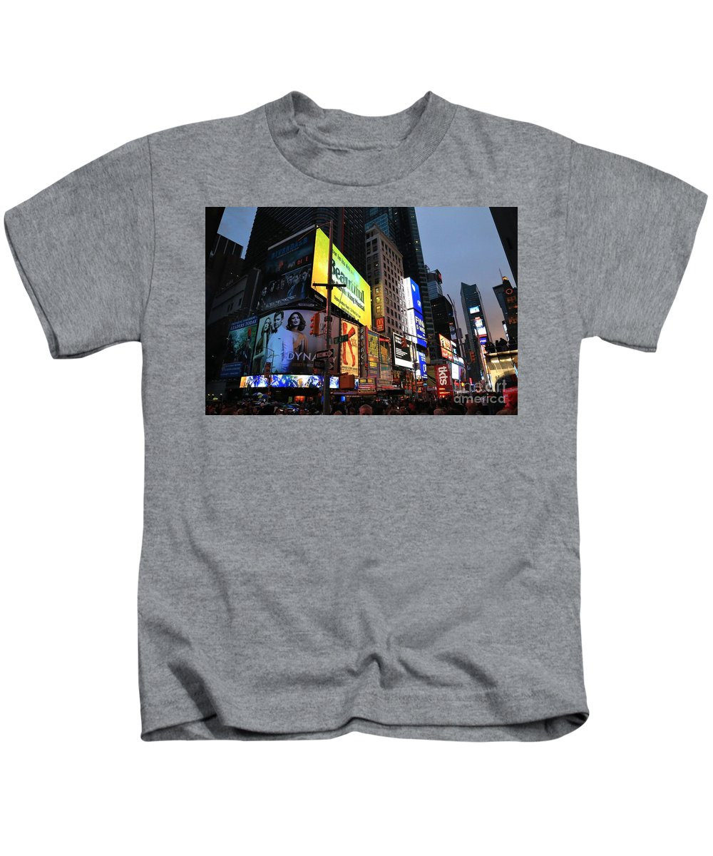 Destination Kids T-Shirt featuring the photograph New York City Times Square by Douglas Sacha