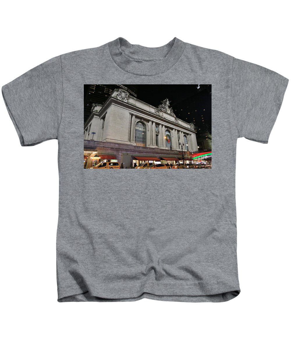 Destination Kids T-Shirt featuring the photograph New York Grand Central Station by Douglas Sacha