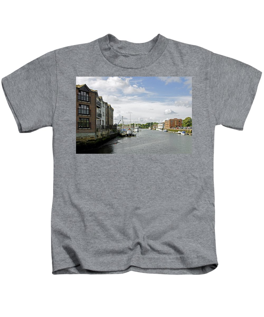 Isle Of Wight Kids T-Shirt featuring the photograph Newport Harbour Iow by Rod Johnson