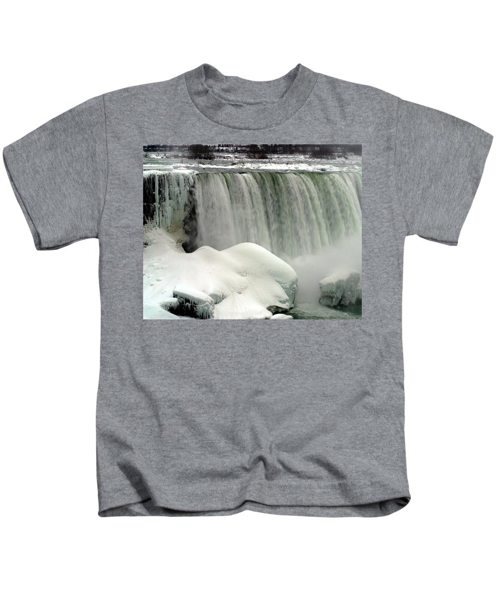 Landscape Kids T-Shirt featuring the photograph Niagara Falls 3 by Anthony Jones