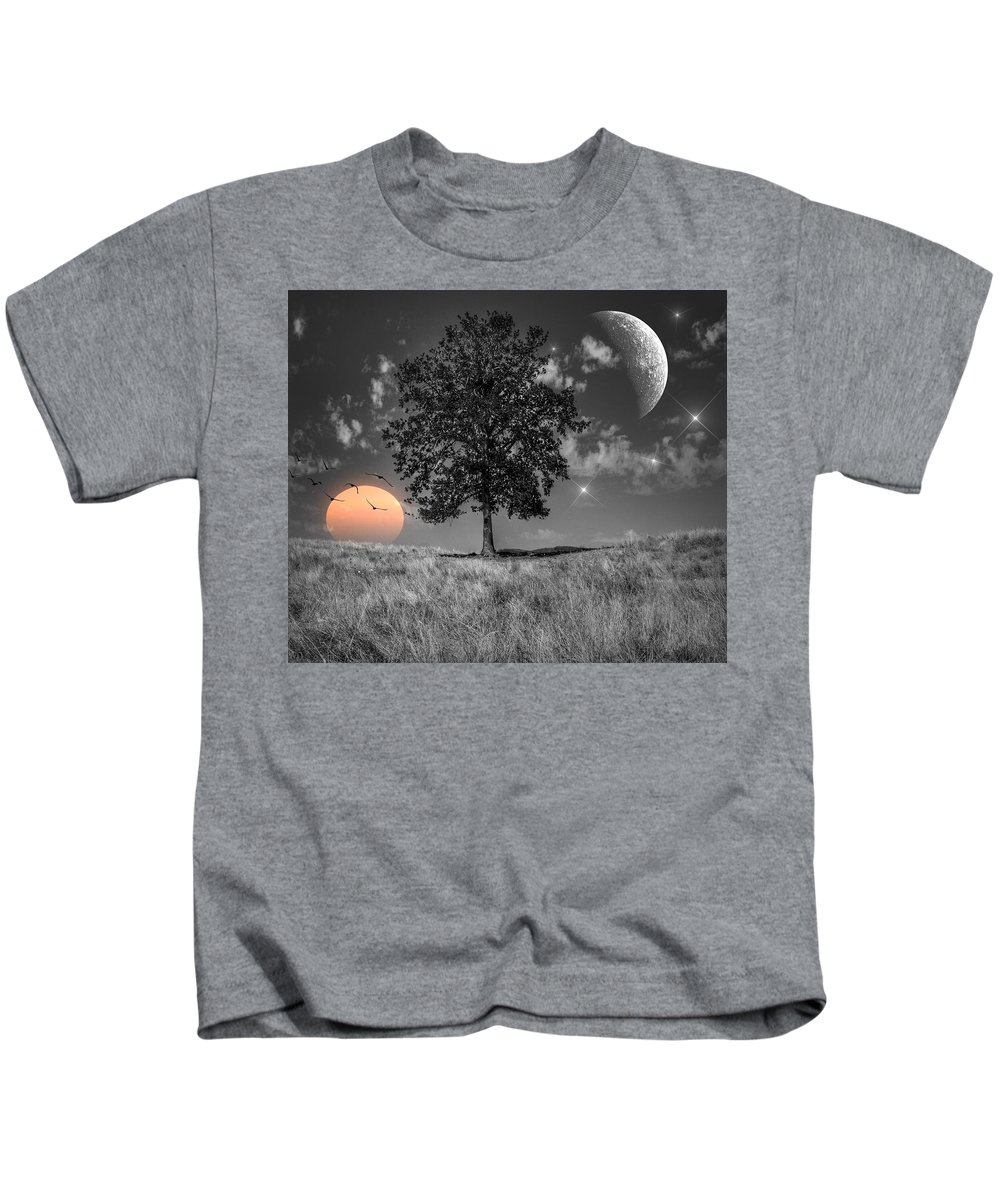 Night And Day Kids T-Shirt featuring the photograph Night And Day by Marianna Mills