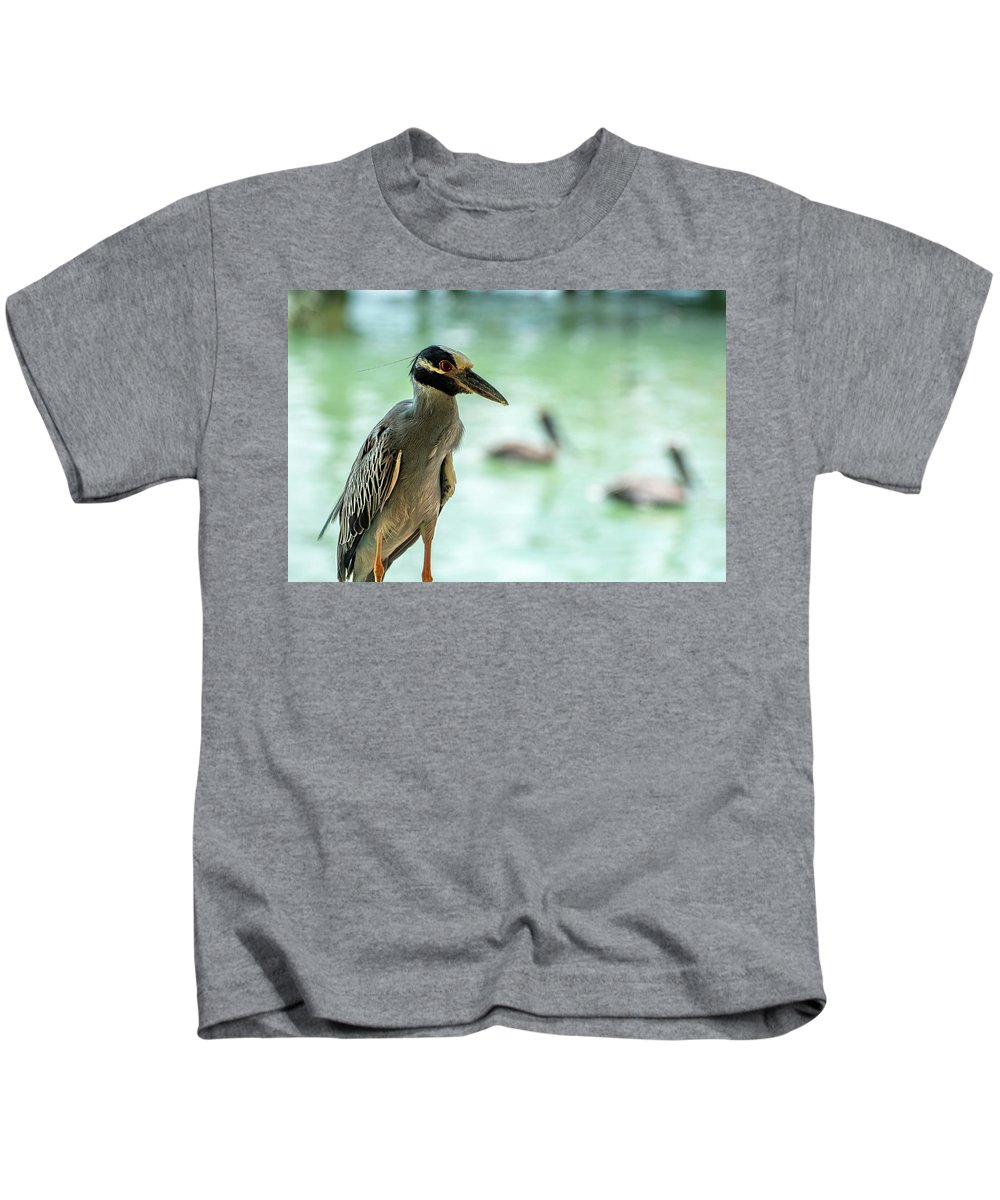 Night Herons Kids T-Shirt featuring the photograph Night Herons by Manuel Lopez