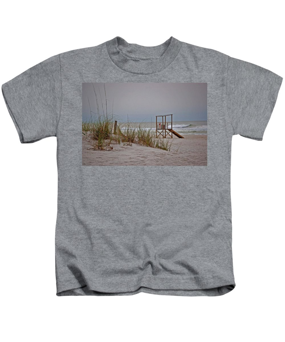 Beach Kids T-Shirt featuring the painting No 1 by Michael Thomas