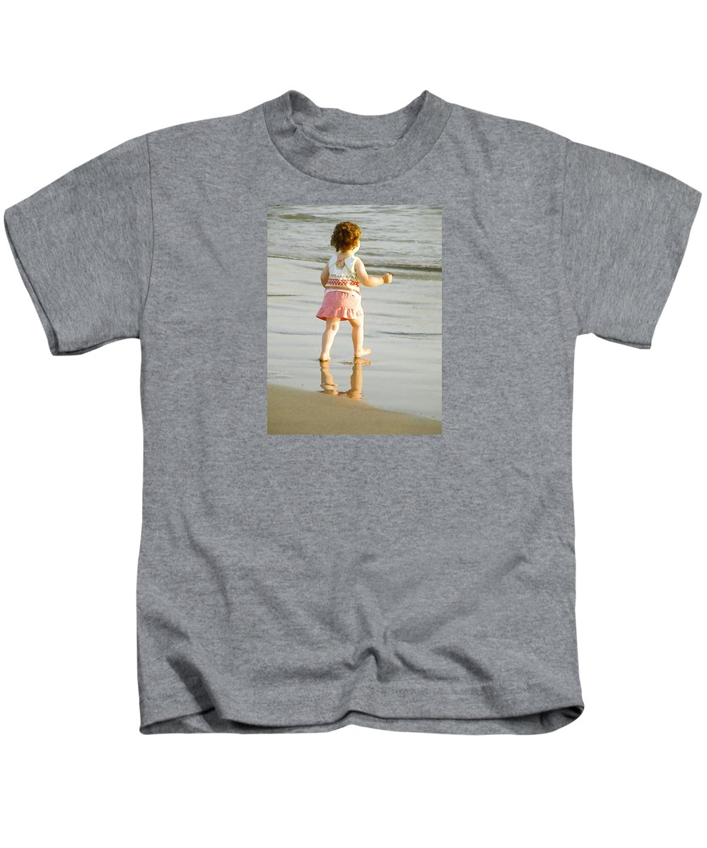 Beach Kids T-Shirt featuring the photograph No Fear by Margie Wildblood