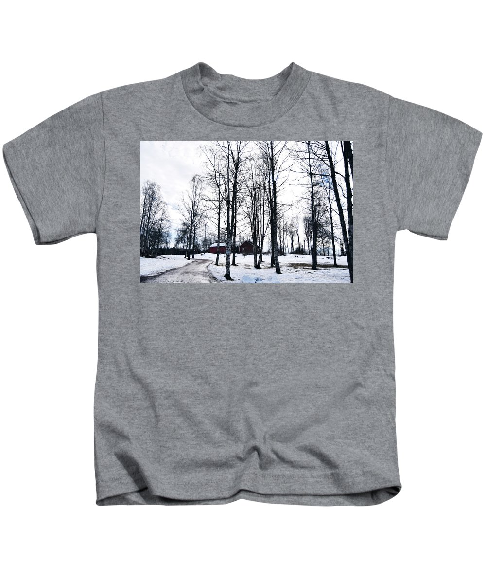 Winter Kids T-Shirt featuring the photograph Norwegian Forest by Alicia Fdez