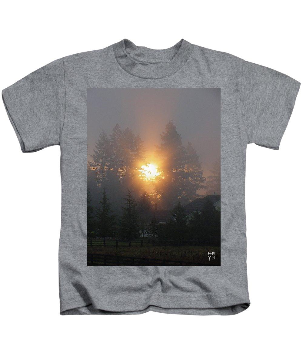 Sun Kids T-Shirt featuring the photograph November Sunrise 2 by Shirley Heyn
