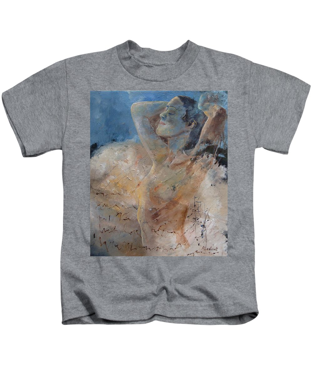 Nude Kids T-Shirt featuring the painting Nude 0508 by Pol Ledent