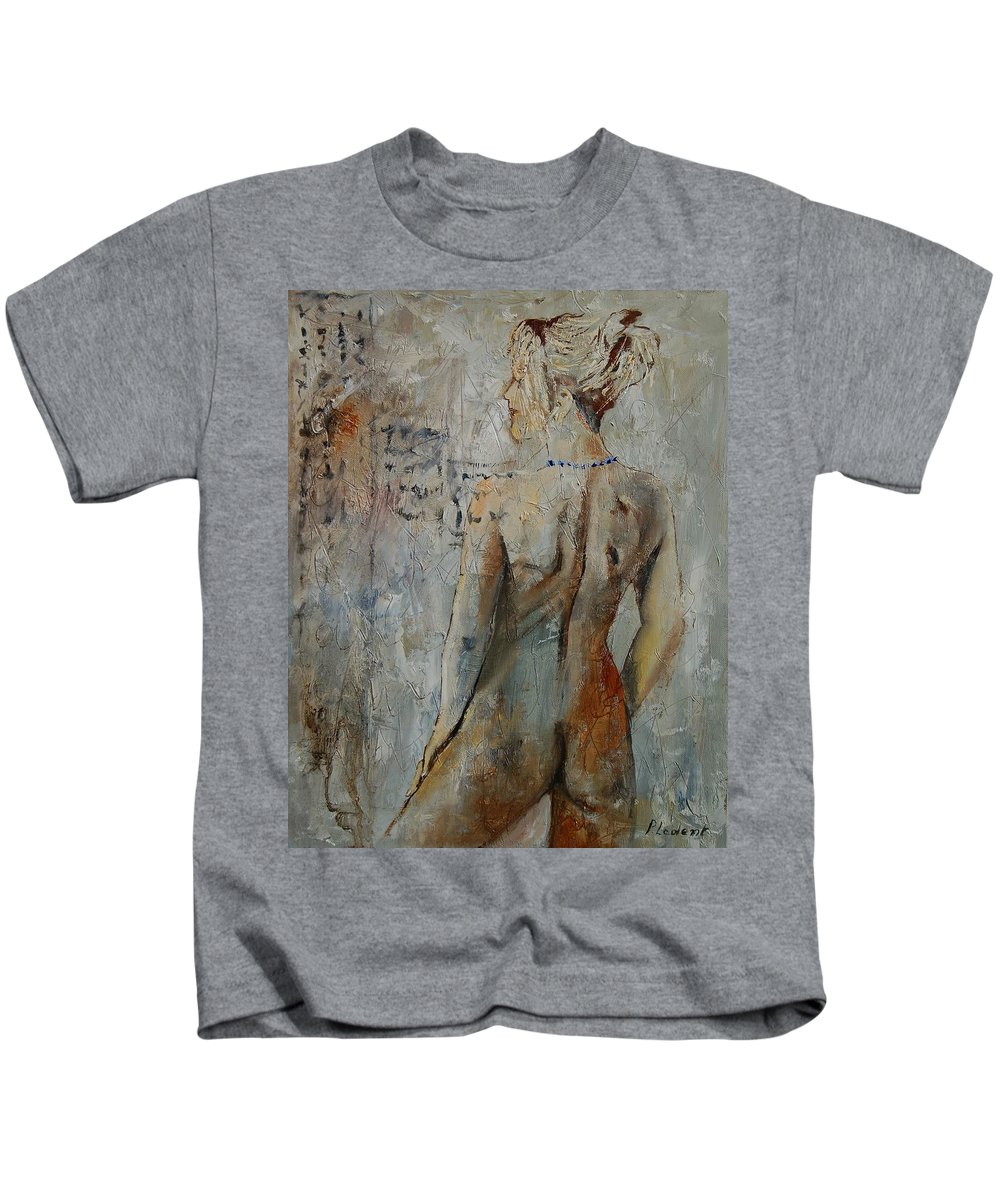 Girl Kids T-Shirt featuring the painting Nude 459020 by Pol Ledent