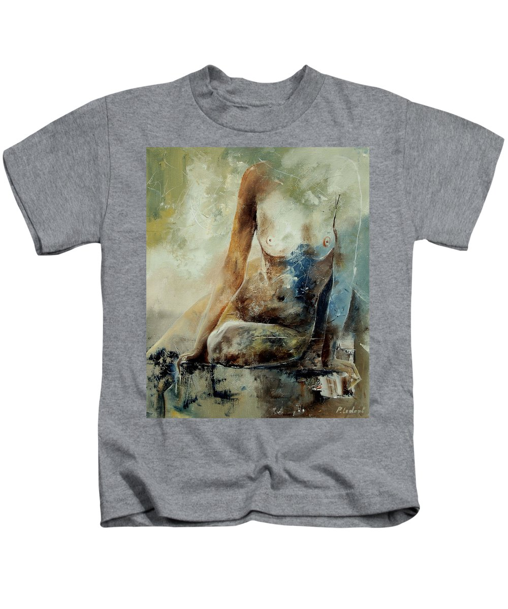 Nude Kids T-Shirt featuring the painting Nude 560408 by Pol Ledent