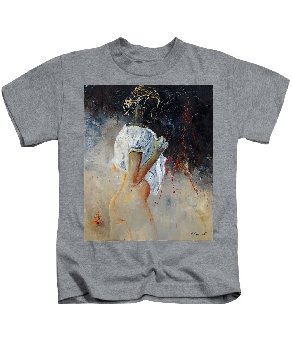 Nude Kids T-Shirt featuring the painting Nude 560508 by Pol Ledent