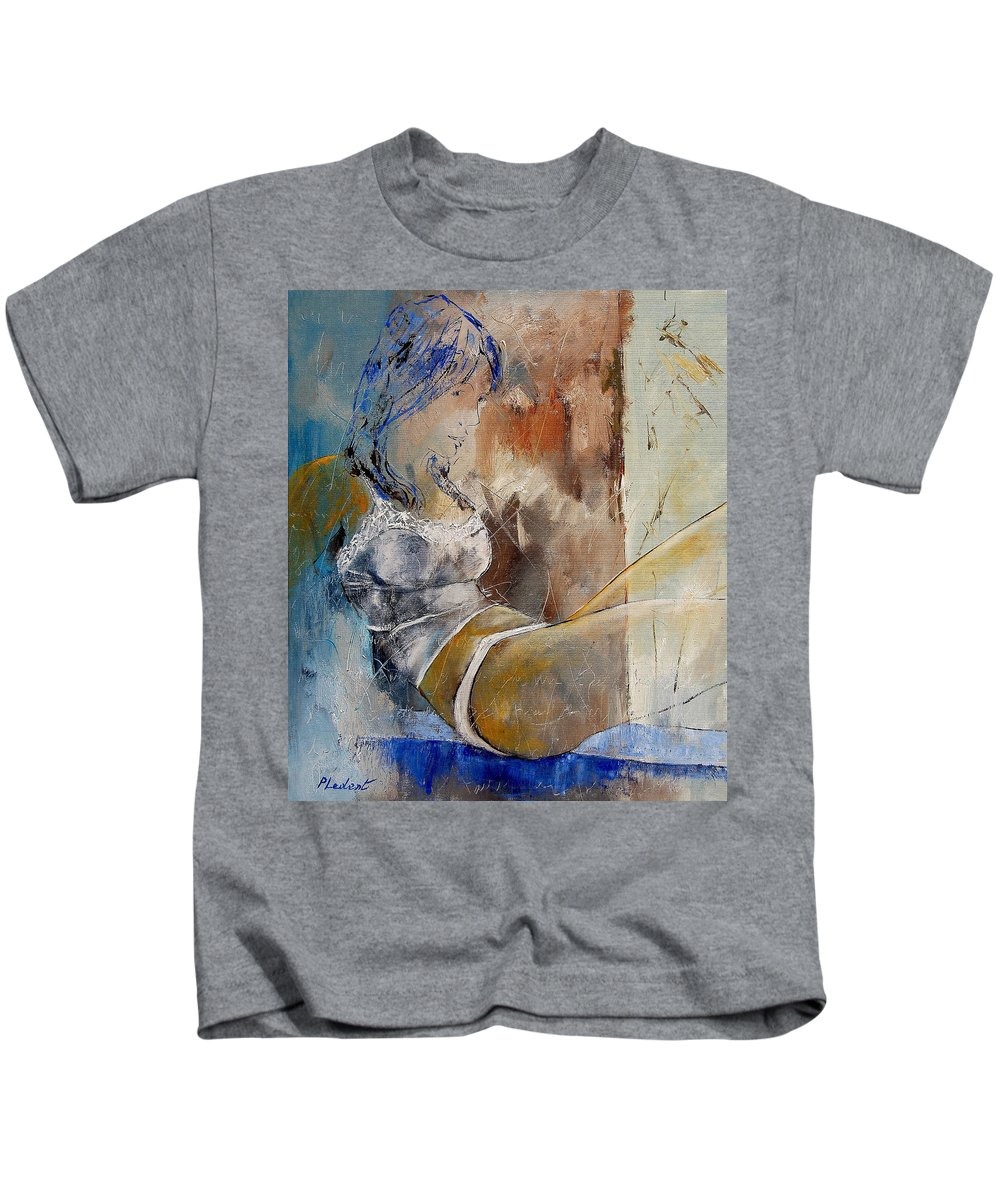 Nude Kids T-Shirt featuring the painting Nude 67524236 by Pol Ledent
