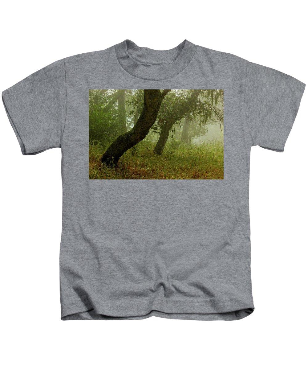 Oaks Kids T-Shirt featuring the photograph Oaks Off The Trail by Joe Azevedo