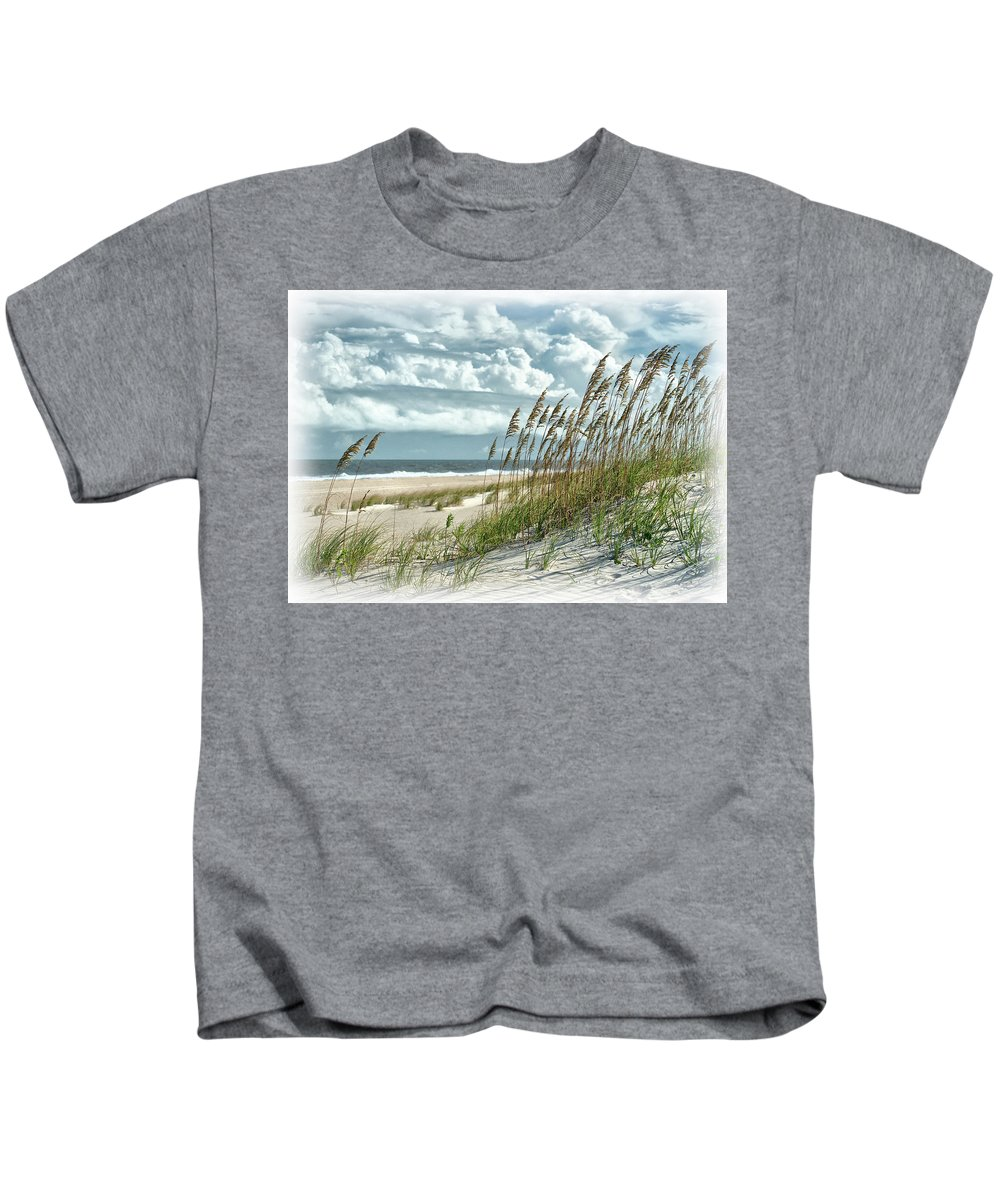 Ocean Kids T-Shirt featuring the photograph Ocean Breeze At Fort Fisher - Number One by Paul Schreiber