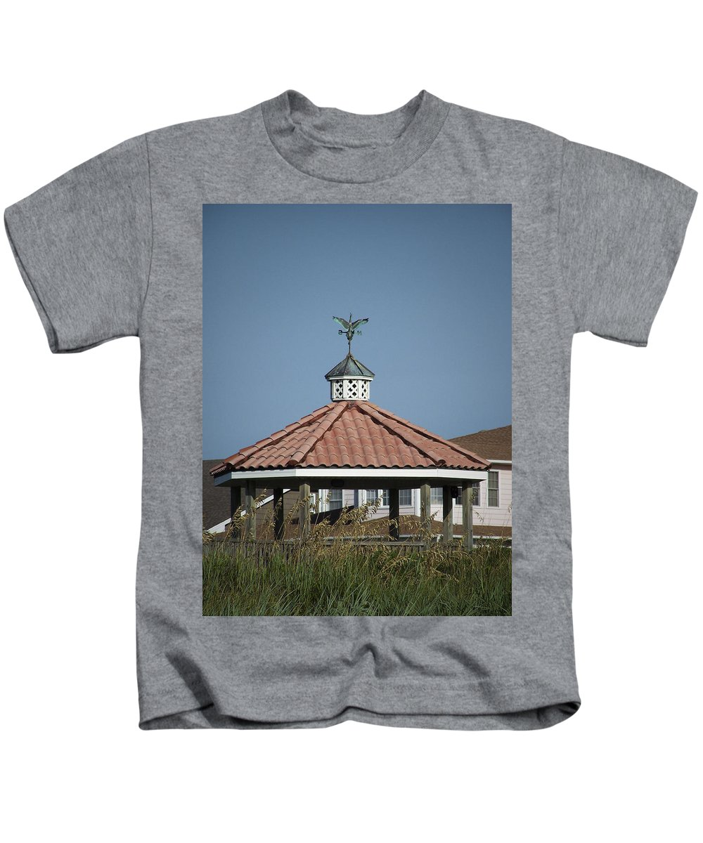 Ocean Kids T-Shirt featuring the photograph Ocean Isle Pelican Weathervane by Teresa Mucha