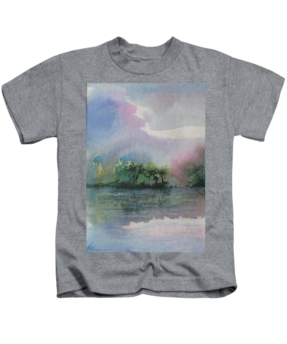 Tropical Island Kids T-Shirt featuring the painting Ocean Pearls by Melody Horton Karandjeff