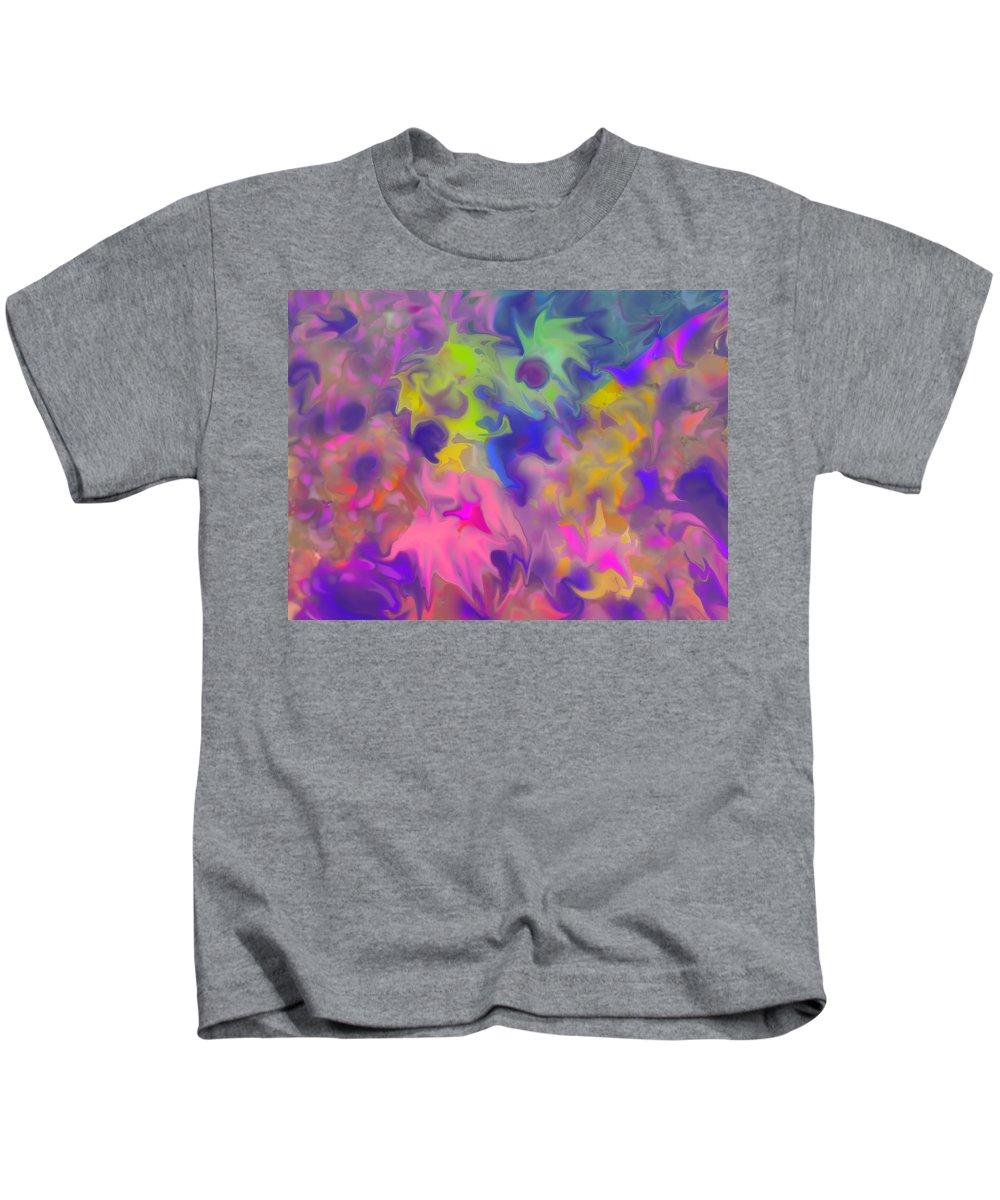 Abstract Kids T-Shirt featuring the digital art October by Ian MacDonald