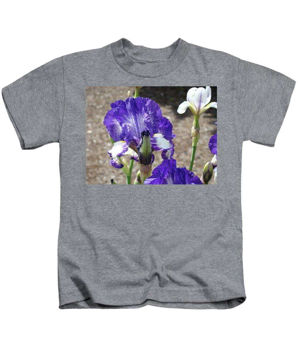 Office Kids T-Shirt featuring the photograph Office Art Prints Irises Flowers 46 Iris Flower Giclee Prints Baslee Troutman by Baslee Troutman