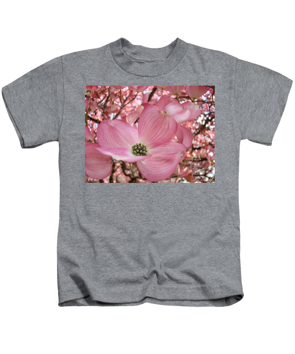 Dogwood Kids T-Shirt featuring the photograph Office Art Prints Pink Flowering Dogwood Tree 1 Giclee Prints Baslee Troutman by Baslee Troutman