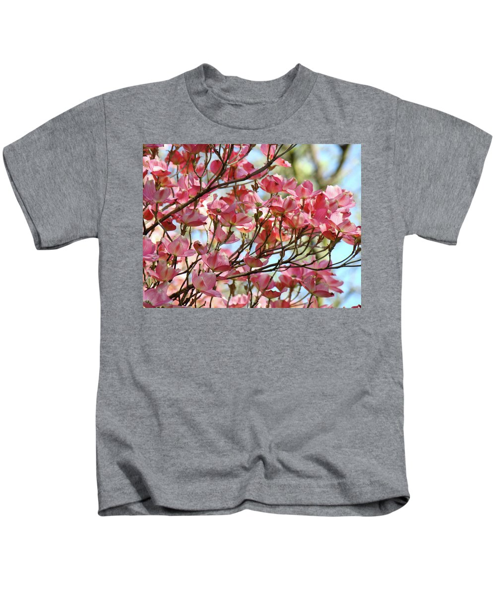 Dogwood Kids T-Shirt featuring the photograph Office Art Prints Pink Flowering Dogwood Trees 18 Giclee Prints Baslee Troutman by Baslee Troutman