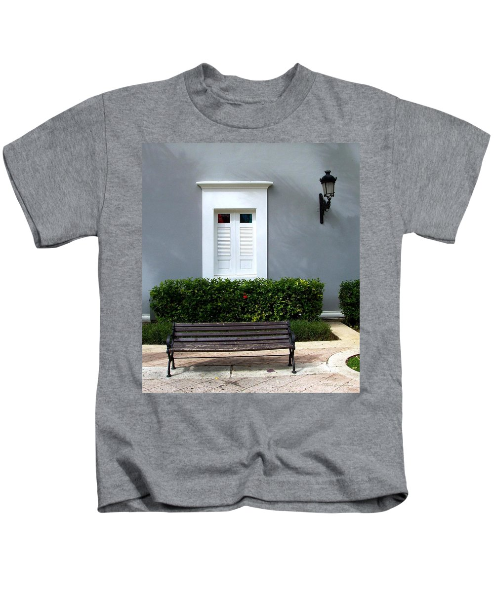 Building Kids T-Shirt featuring the photograph Official Bldg by Deborah Crew-Johnson
