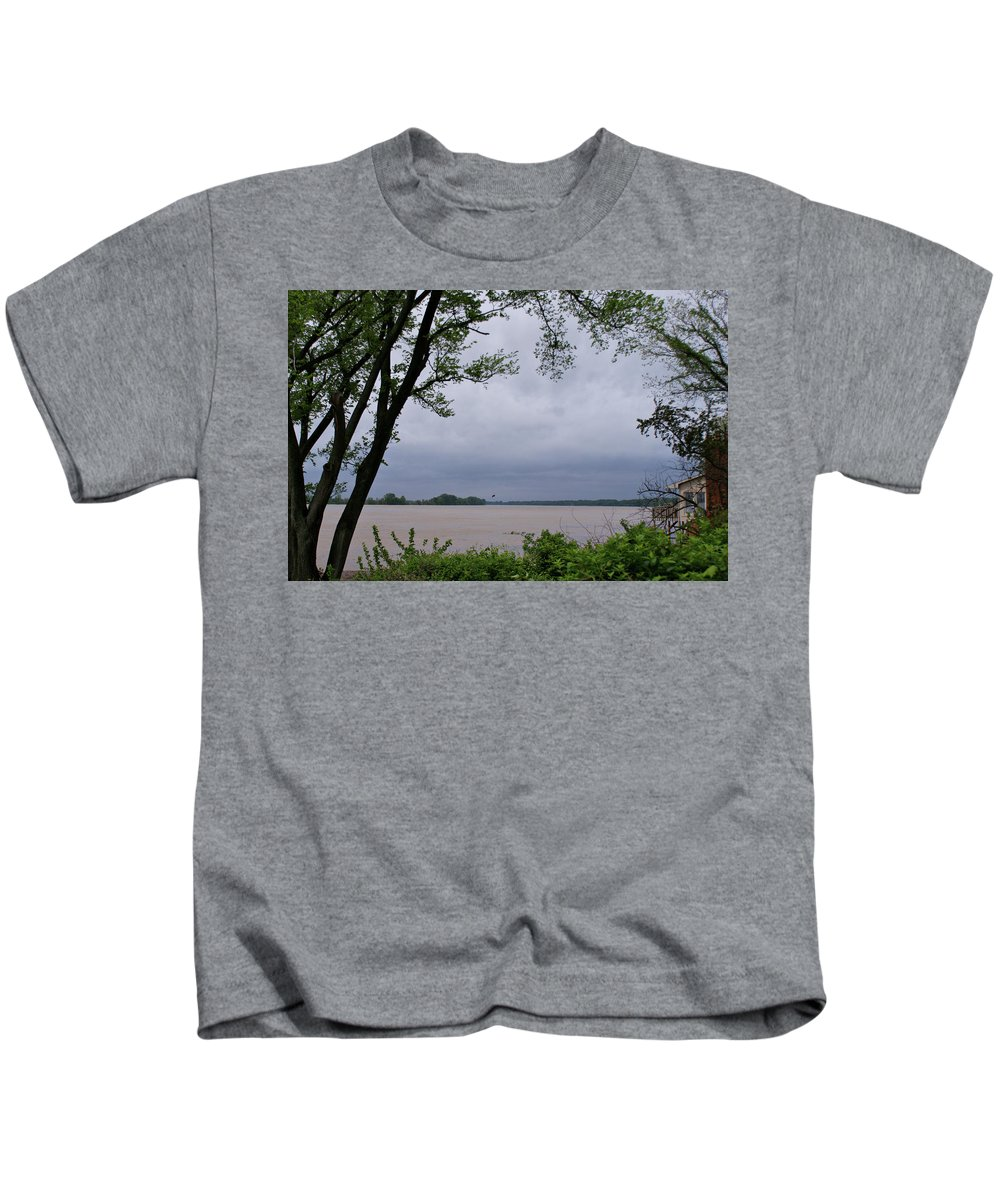 Ohio River Kids T-Shirt featuring the photograph Ohio River by Sandy Keeton