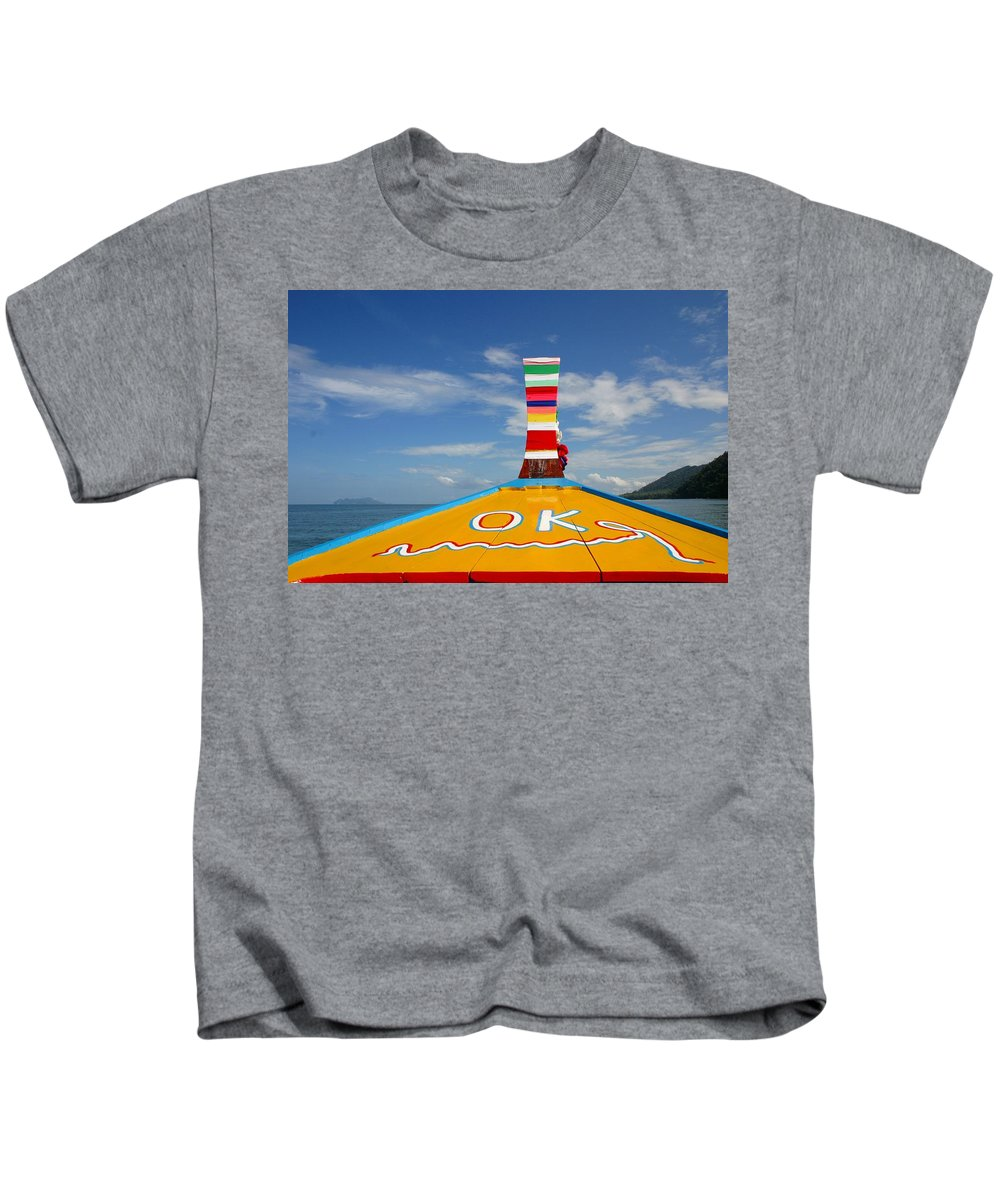Kids T-Shirt featuring the photograph Okay In Thailand by Minaz Jantz