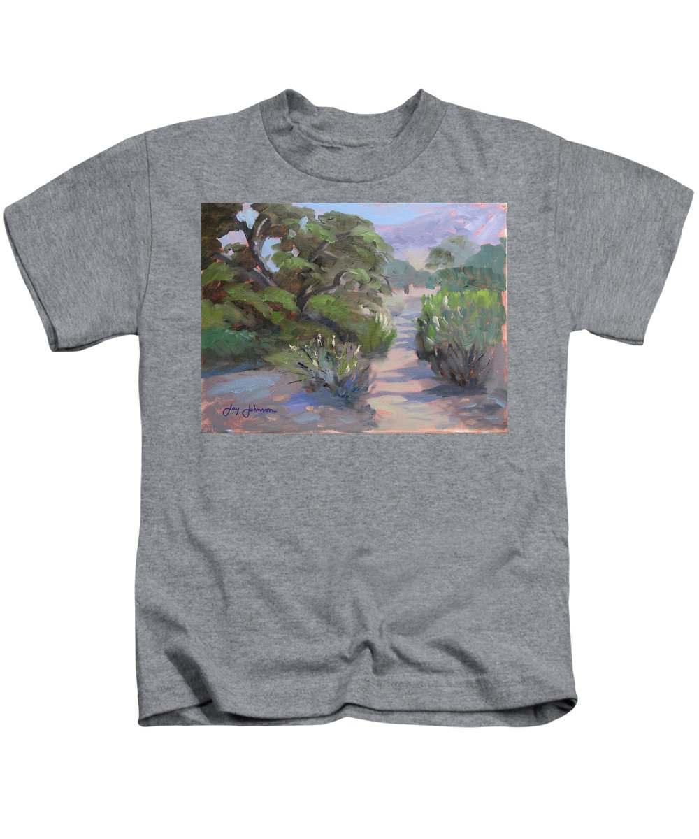 Landscape Kids T-Shirt featuring the painting Old Agoura by Jay Johnson