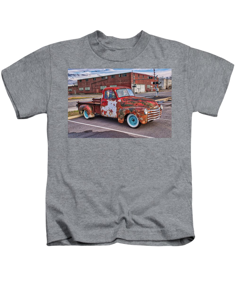 Truck Kids T-Shirt featuring the photograph Old Crusty Generic 2 by Joe Moore