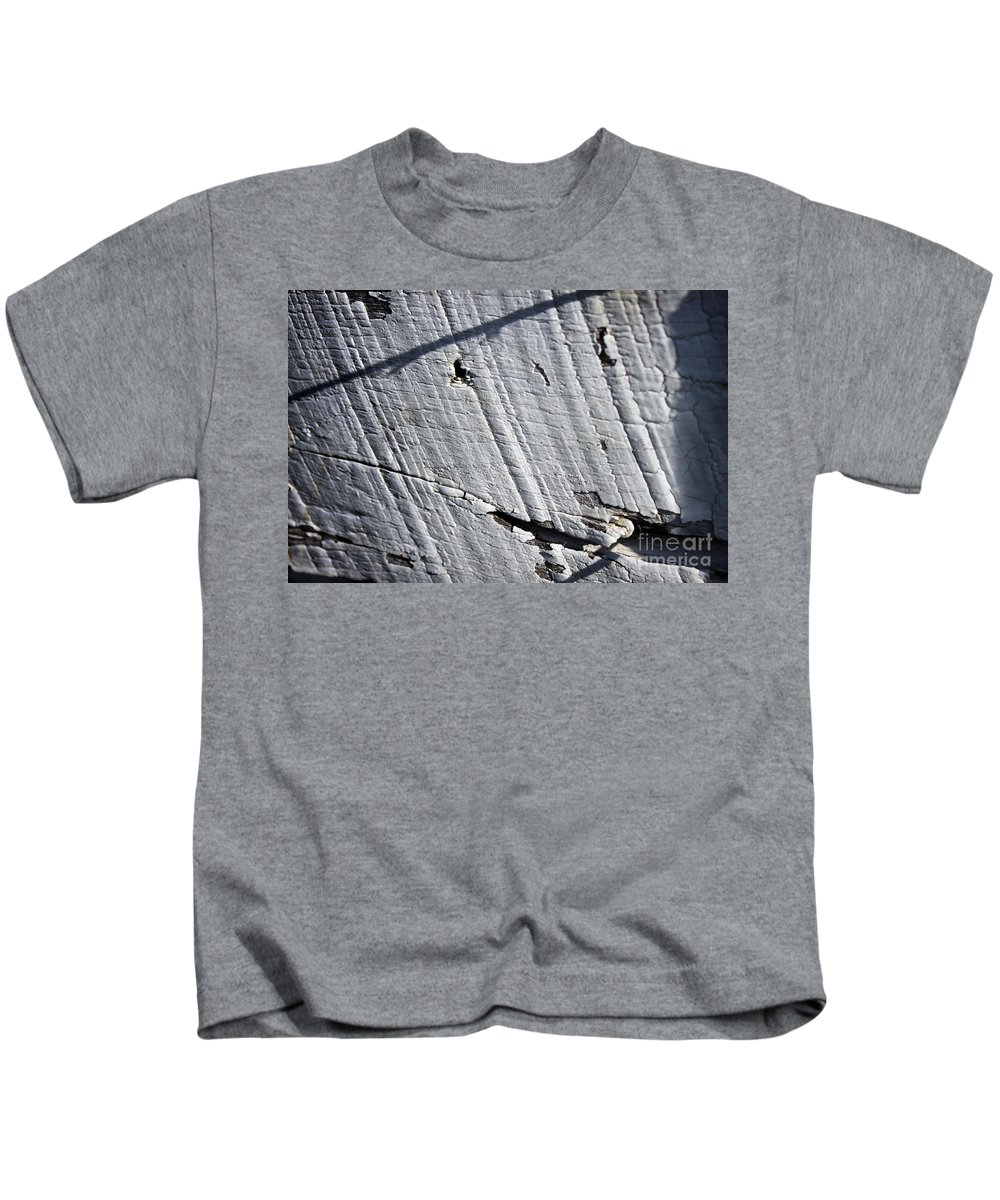 Abstract Kids T-Shirt featuring the photograph Old Fence by Todd Blanchard