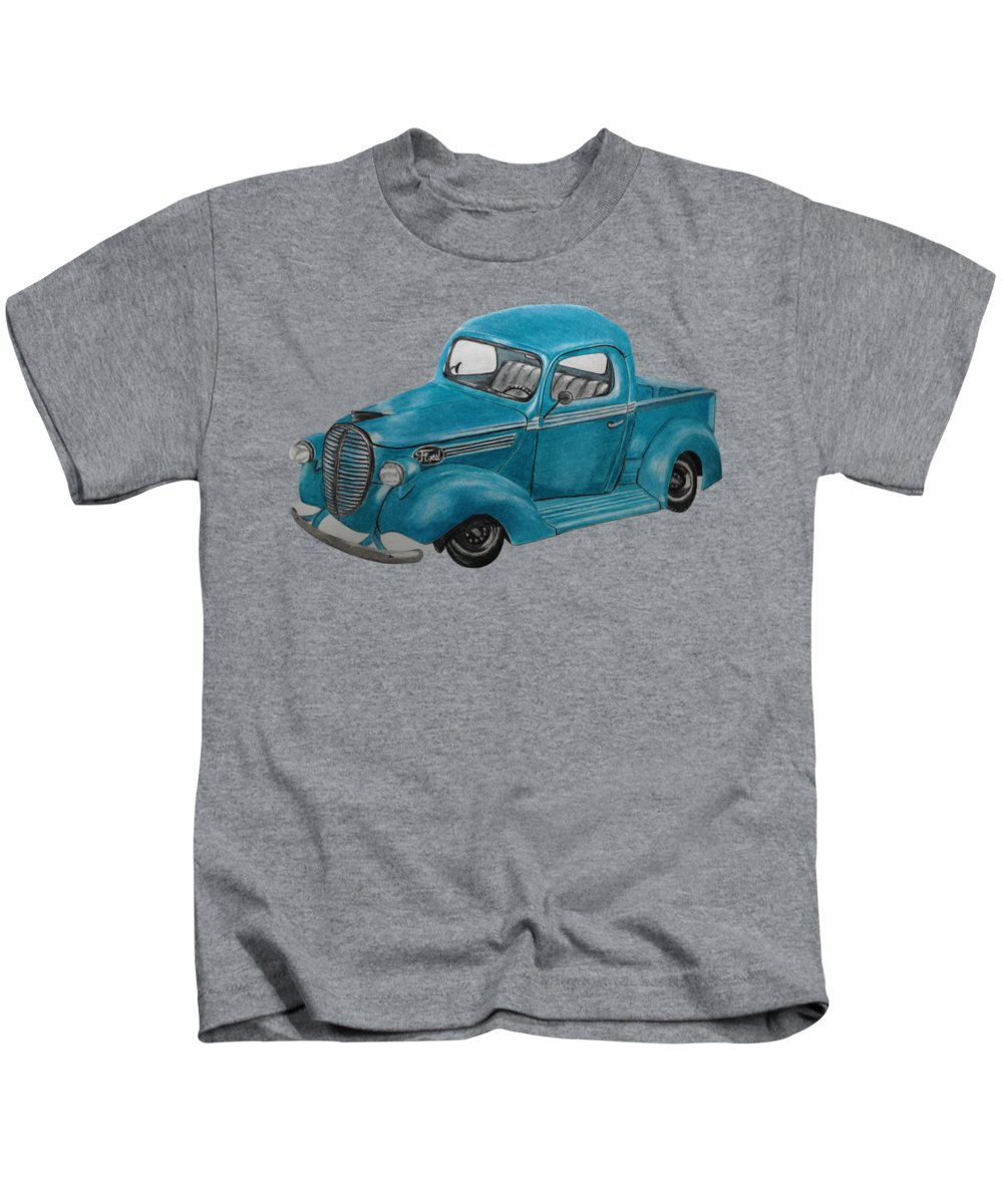 Old Truck Drawings Kids T-Shirts