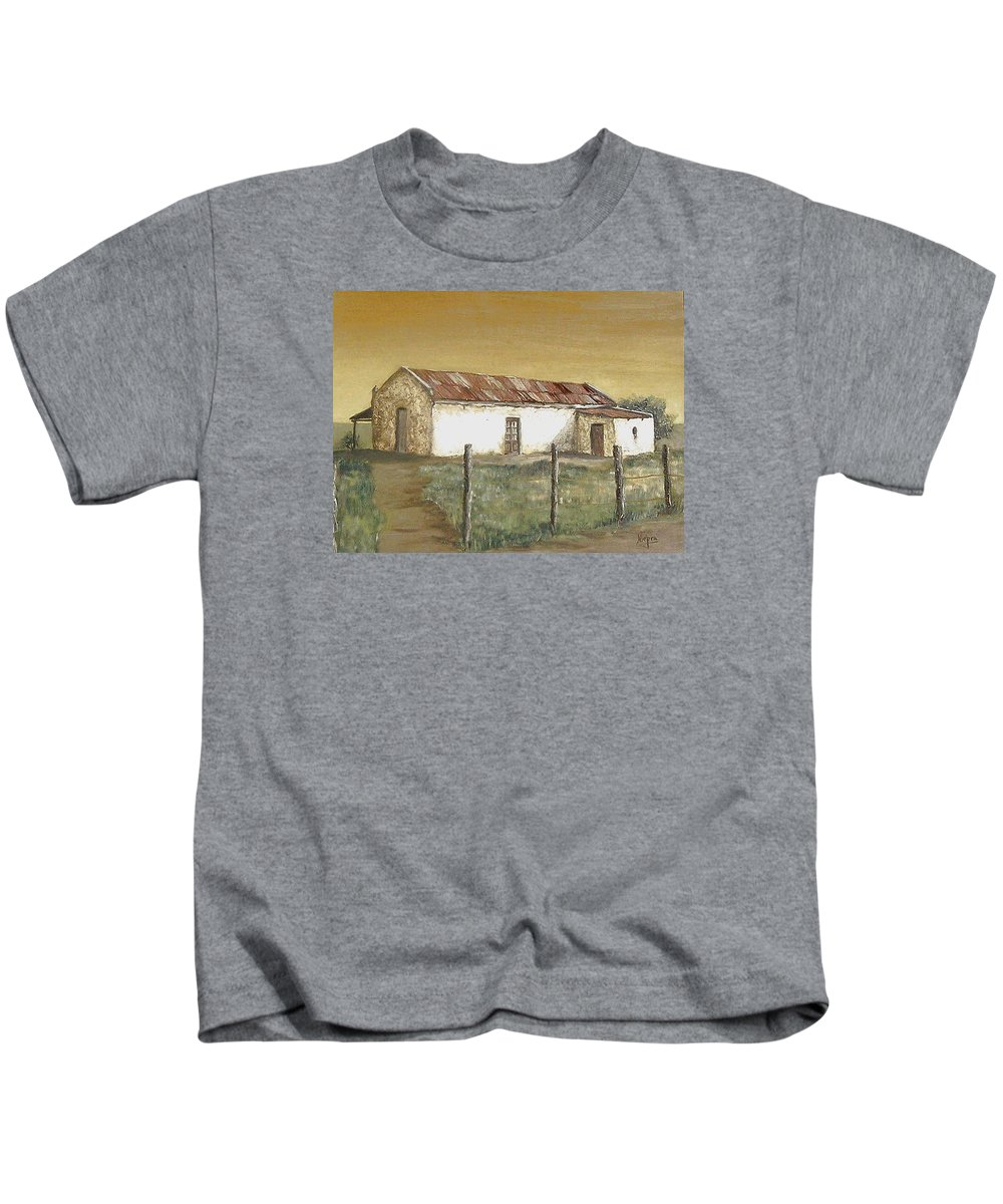 Old House Landscape Country Kids T-Shirt featuring the painting Old House by Natalia Tejera